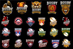 Set 23 Rugby Eps Emblem Logo Template Product Image 2