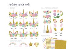 Pretty Unicorns Clipart Vector PNG Product Image 2