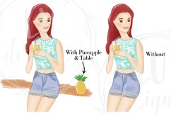 Summer Girls Clipart, Beach Clipart, Girl Illustrations Product Image 3