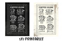 Coffee Bar - Guide Cheat Sheet - Farmhouse Kitchen Sign SVG Product Image 5