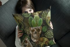 Embroidery style skull, cactus and aliens heads Product Image 4