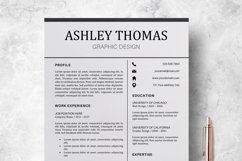 Resume | CV Template Cover Letter - Ashley Thomas Product Image 1