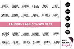 Laundry Labels SVG, Bottle Labels, Jar Labels Product Image 1
