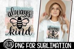 Always BEE Kind - Pastel - Glitter - PNG for Sublimation Product Image 1