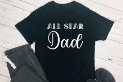 All Star Dad & Grandpa Bundle Cut Files - SVG & PNG Product Image 2
