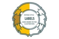 Vintage style labels set. Product Image 1