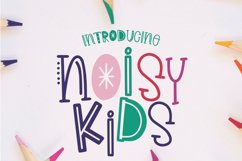 Noisy Kids - a Playful Hand-Written Font Product Image 1