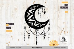 Moon SVG Crescent Moon SVG Half Moon Paper Cut Boho Svg Product Image 5