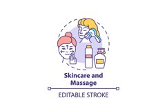 Skincare and massage concept icon Product Image 1