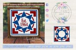 Barn Quilt Pattern Design 4 SVG DXF FCM LL223D Product Image 1