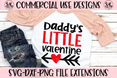 Daddy's Little Valentine SVG DXF PNG Product Image 1