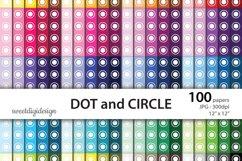 Basic digital paper seamless pattern polka dots and circles Product Image 1