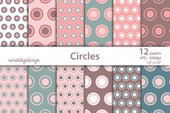 Red and green pastel circles digital background Product Image 1