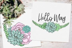 Peonies and Succulents Product Image 6