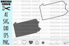 PENNSYLVANIA svg, State svg Files, Pennsylvania Vector, United States svg, State Clip Art, Pennsylvania Cut File, Pennsylvania State Outline Product Image 1