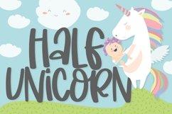 Half Unicorn - A Silly Hand Written Type Product Image 1