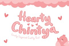 Hearty Chintya - Layered Crafty Font Product Image 1