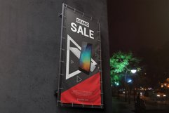 Vertical Outdoor Advertising Banner Mockup Product Image 2
