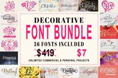 Decorative Font Bundle Product Image 1