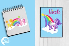 Magical Unicorns clipart, graphics and illustrations AMB-160 Product Image 5