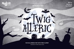 Twig Alleric - Halloween Twig Font Product Image 1