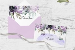 Watercolor Borders with flowers Clipart dragonfly Product Image 3