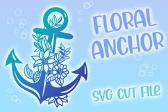 Floral Anchor Intricate Cut File - SVG Product Image 1