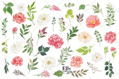 Watercolor Flowers clipart - Shantal Product Image 6