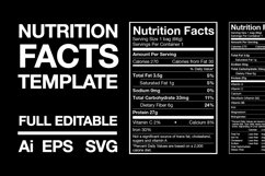 Nutrition Facts Template Product Image 1