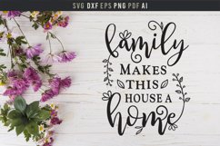 Family makes house a home Sign, Family Saying wall art SVG Product Image 1