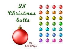 Set of 28 Christmas balls Product Image 2