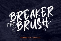 Breaker The Brush Typeface Product Image 1