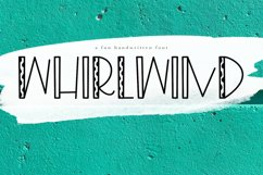 Whirlwind - A Fun Handwritten Font Product Image 1