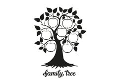Family tree SVG cut file Product Image 1