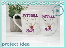 Dog Mom American terrier line art animal lover quote design Product Image 6