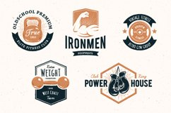 Retro Gym | Logo Templates Product Image 6