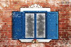 Window Frames Overlays Christmas Freeze Holiday photoshop Product Image 6