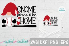 Gnome Place Like Home Baseball SVG, DXF, PNG, EPS Product Image 1