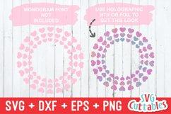 Hearts Monogram Frame| SVG | Shirt Design Product Image 2
