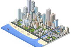 Skyscrapers, houses and streets Product Image 1