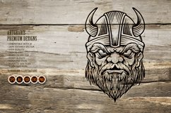 Viking troops Silhouette horned helmets Product Image 5