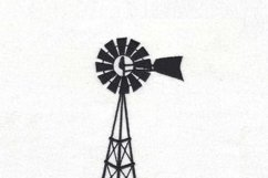 Simple Winged Farm Windmill Embroidery Design Product Image 5