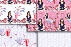 Planner Girl Watercolor Paper, Graphics Resources, Seamless Product Image 4