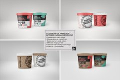 Paper Tub with Lid Packaging Mockup Product Image 6