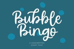 Bubble Bingo - Handwritten Script Font Product Image 1