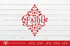 Christmas Arabesque Tile fOrnament Svg  Faith Svg Cut File Product Image 2