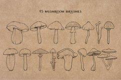 Mushroom Procreate Brushes - Stamp Brushes - Hand Drawn Product Image 3