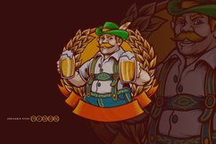 Beer Farmers Happy Wheat Frame SVG Illustrations Product Image 1