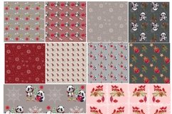 Mini bundle of watercolor seamless patterns.Digital paper Product Image 2