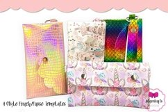 4 Style Pouch Template, Sew or No Sew Clutch, Mask Holder Product Image 1